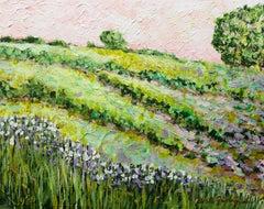 Morning Dew on the Irises