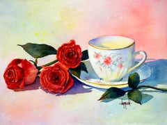 American Realist Still-life Drawings and Watercolors