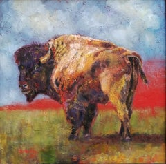 Lonely Bull, Oil Painting
