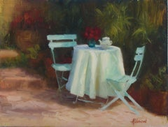 Garden Tea, Oil Painting