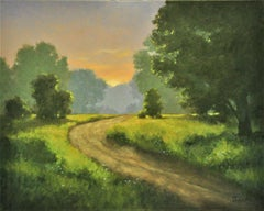 Sunset Path, Oil Painting