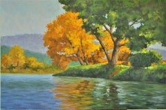 Golden Tree, Oil Painting
