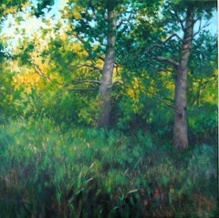 Woodland Sentinels, Oil Painting