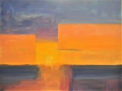 Golden Sunset, Abstract Painting