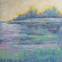 Lemon Sky, Oil Painting