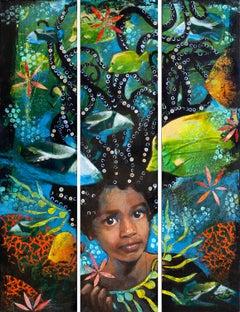 Antonia Under the Sea (Triptych)