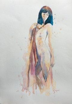 American Realist Nude Drawings and Watercolors