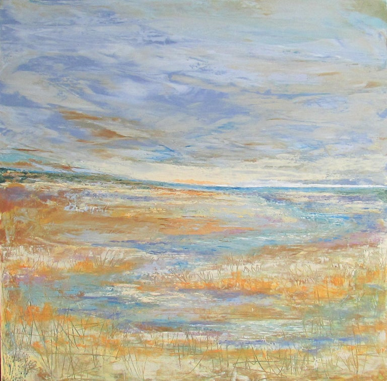 Valerie Berkely Abstract Painting - Lead the Way