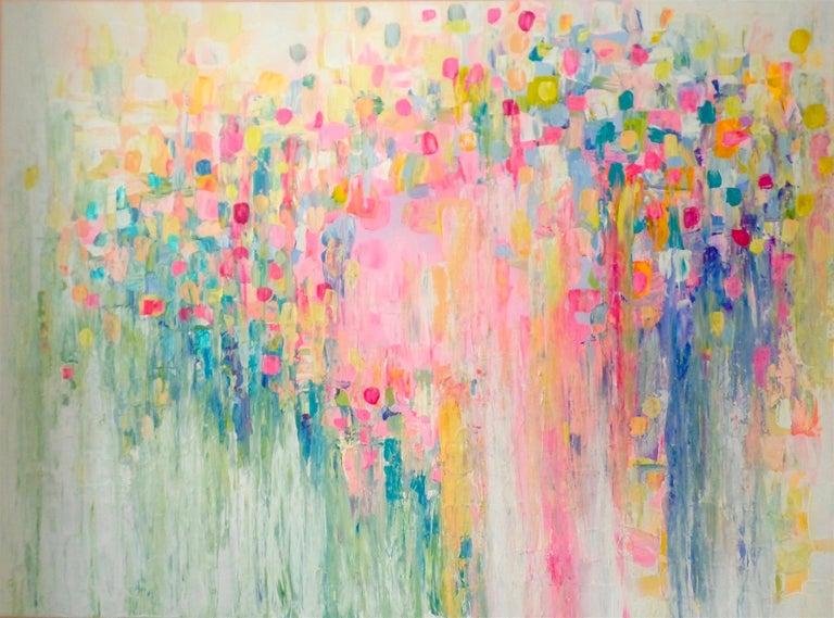 Natasha Tayles Abstract Painting - Rain or Shine