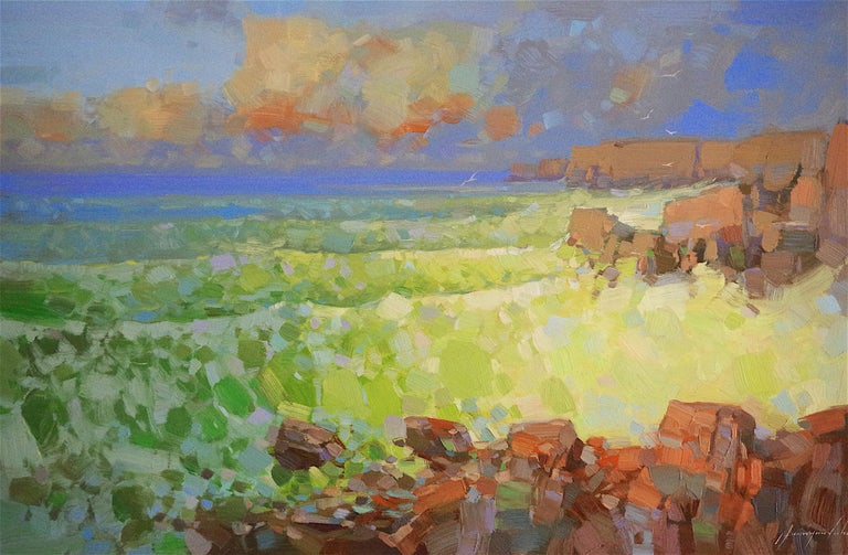 Vahe Yeremyan Landscape Painting - Emerald Ocean