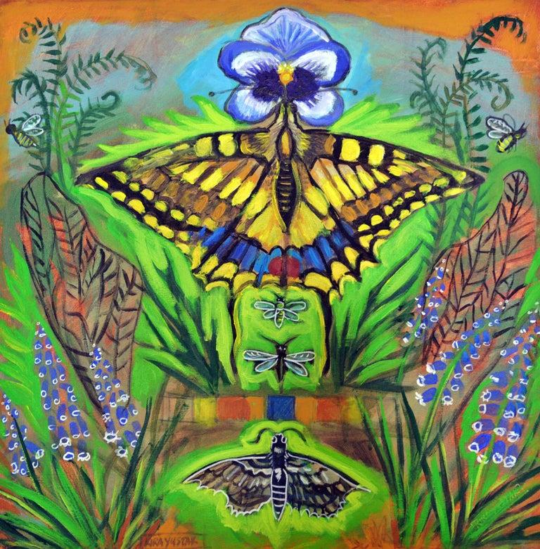 Kira Yustak Still-Life Painting - Inside the Garden
