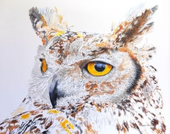 Max the Great Horned Owl Hearing Hooting