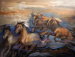 Horse Painting, Horses in My Dream 03