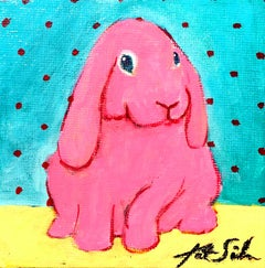 Blue Eyed Pink Bunny