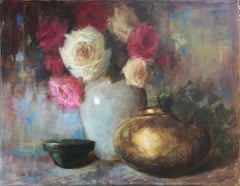 Brass Pot and Roses