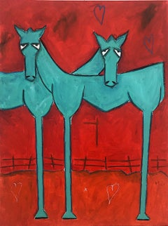 Contemporary Horse Painting, Horse Love
