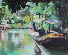 Bangkok Canals, Oil Painting