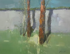 Viridian Trees, Oil Painting