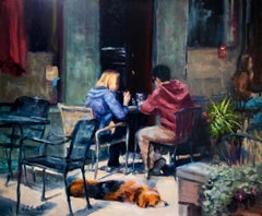 Let Sleeping Dogs Lie, Oil Painting