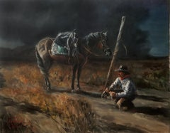 Rolling a Quirly, Oil Painting