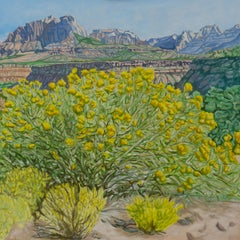 Zion View, Oil Painting