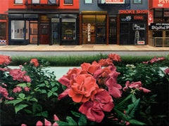 Roses on Allen Street, Oil Painting