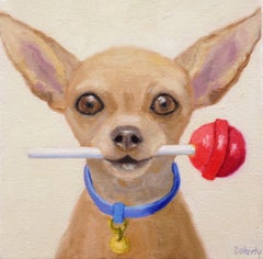 Tootsie Roll Pop, Oil Painting