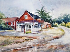 Coastal Stage Stop in San Gregorio, Original Painting