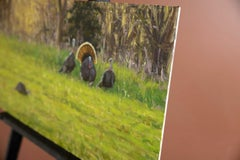 Spring Strut - Wild Turkeys, Oil Painting