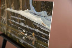 Hooded Mergansers, Oil Painting
