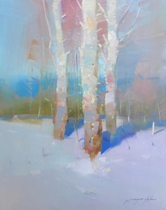 Birches Trees, Oil Painting