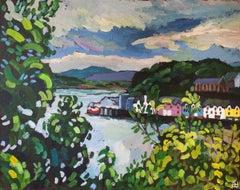 Portree Harbor, Isle of Skye, Original Painting