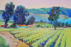 Morning in Vineyards, Oil Painting