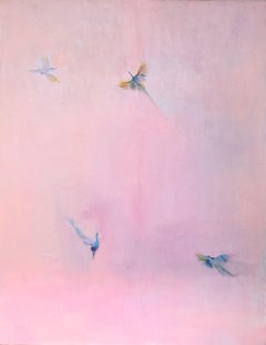 Peacock Pink Sky, Original Painting