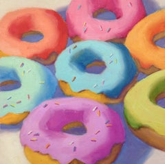 Donuts, Oil Painting