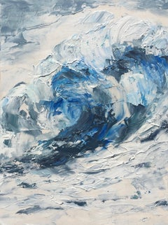 Sea Swirl, Abstract Oil Painting
