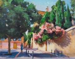 A Walk in Aix, Oil Painting