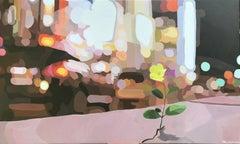 A Flower Grows in Manhattan, Original Painting