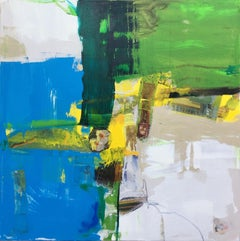Untitled (Clock), Abstract Painting