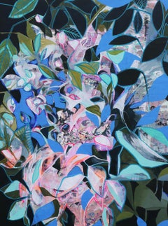 Olive Petals, Abstract Painting