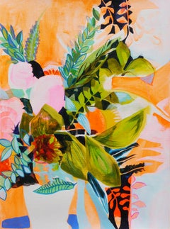 Tangerine Bloom, Original Painting