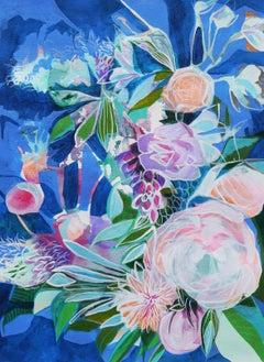 Blue Petals, Original Painting