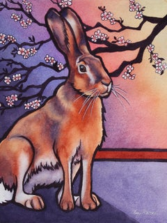 Spring Hare, Original Painting