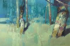 Moon Trees, Oil Painting