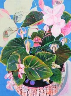 Blue Begonia, Original Painting