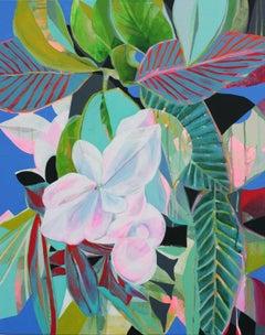 Striped Leaves, Original Painting
