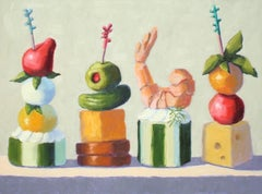 Four Appetizers, Oil Painting