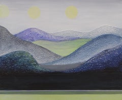 Moons over Mountains, Original Painting