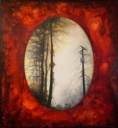 The Turning Point (Telephone Pole in Red), Original Painting