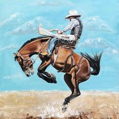 Roughstock Ride, Original Painting